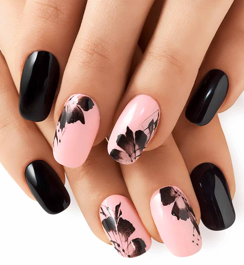 U as de gel y nail art tendencias 2018 ideas originales khalphora - Nail art a specchio ...